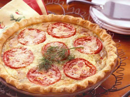 Cheese & Tomato Quiche