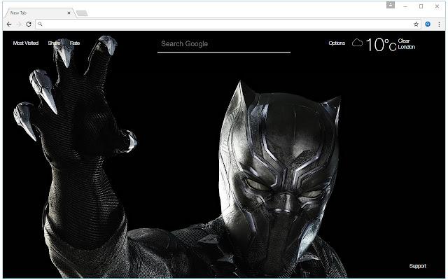 Black Panther Wallpaper Hd New Tab Themes