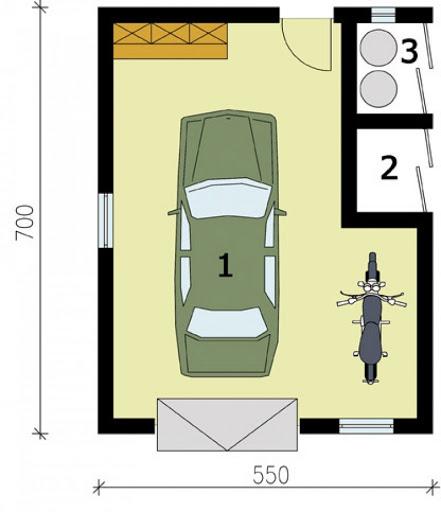 G171 - Rzut garażu