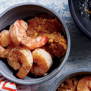Mofongo with Shrimp.
