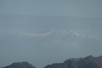 右から空木岳・南駒ヶ岳・越百山など