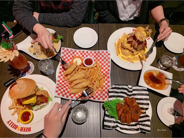 超浮誇的漢堡塔/熱量爆表的起司拼盤超級好吃/啤酒肚餐廳中正店 Beerbelly Restaurant