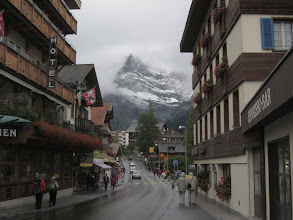 Photo: Fast forward to the cozy town of Grindelwald, where we wait out the storm.