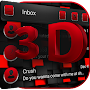 3d black and red SMS