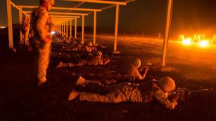 Adiestramiento nocturno en Irak