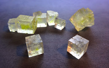 Photo: Table salt crystals. The biggest crystal is about 2 cm.