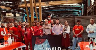 Parte del equipo de Metálicas Ávila.