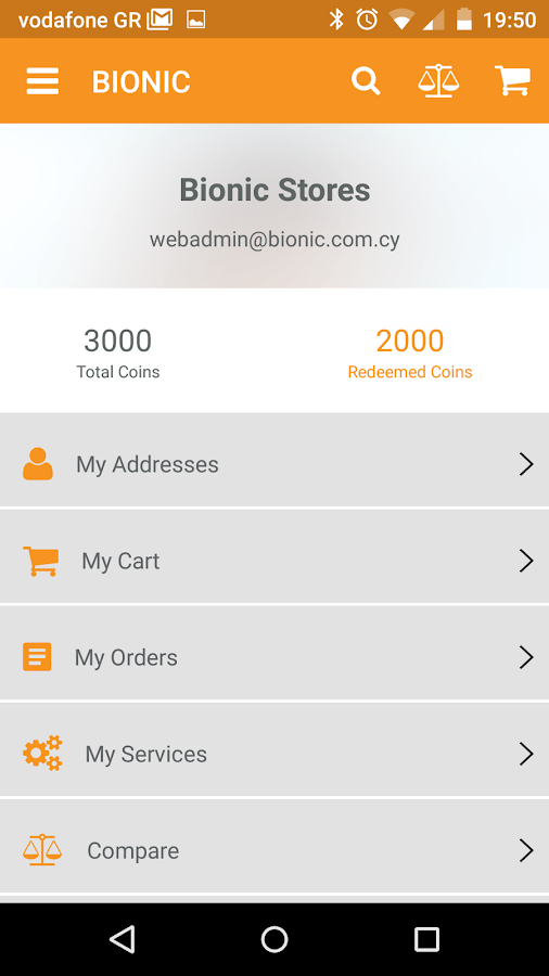 Bionic eStore- screenshot