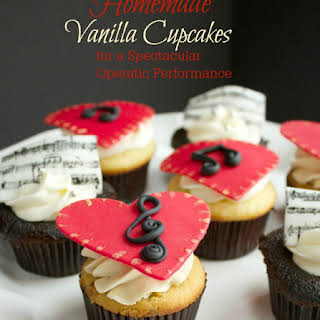 Homemade Vanilla Cupcakes {for a Spectacular Operatic Performance}.