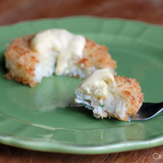 Chive Risotto Cakes With Lemon Aioli