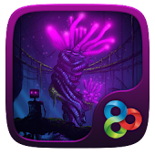 Purple Glow GO Launcher