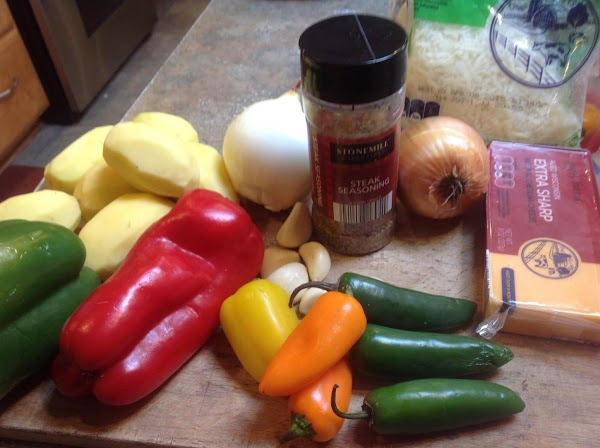Prep all the veggies first .These are most of the main ingredients for the...