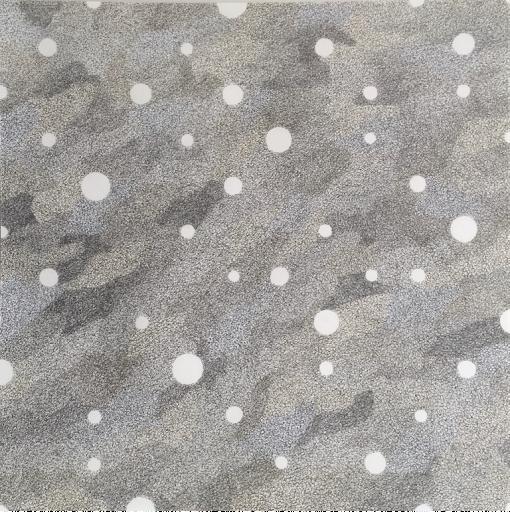 Albert Roskam, Cirkels op een raster in een vlak van tinten grijs, Gouache op papier 55x55 cm, 2020