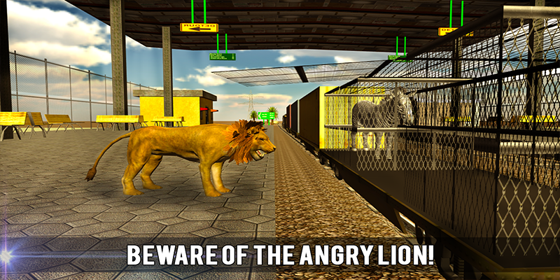 Wild Animal Transport Train 3D - screenshot