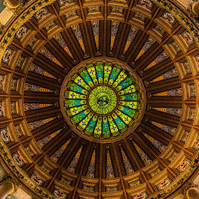 illinois state capitol dome by Darrin Ralph - Buildings & Architecture Architectural Detail ( illinois, color, dome, historical, capitol )