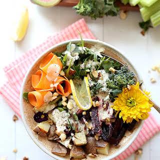Kitchen Sink Spring Root Vegetable Salad.