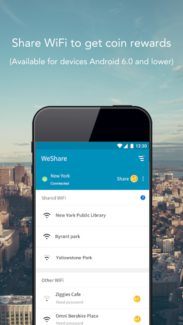 #2. WeShare: Share WiFi Worldwide (Android)