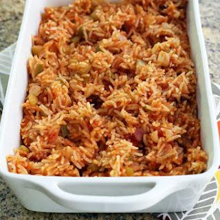 Baked Savannah Red Rice.