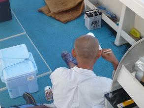 Photo: 夕方、仕事が終わってから乗船!バタバタで来たのでとりあえずメシ食って・・・。