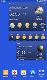Weather & Clock Widget for Android- screenshot thumbnail