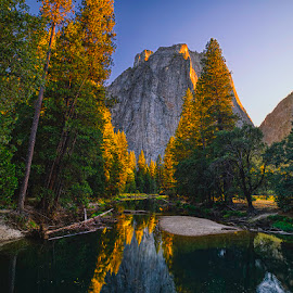 Yosemite at sunset.. by John Aavitsland - Landscapes Mountains & Hills ( 2018, september, yosemite, sunset, summer )