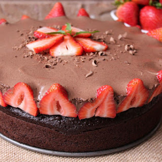 Rose's Chocolate Mousse Berry Cake.