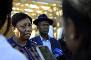 Basic Education Minister Angie Motshekga during her visit to the bereaved family of Gadimang Daniel Mokolobate, a teacher who was allegedly stabbed to death by a learner at Ramotshere Secondary School at Dinokana Village, Zeerust.