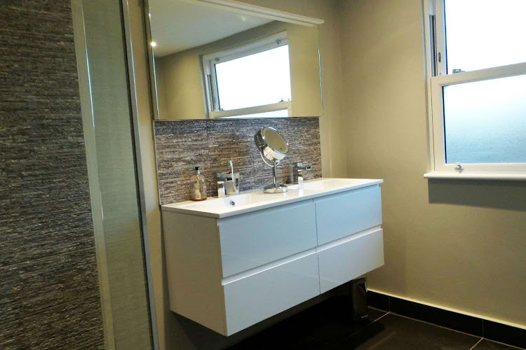 a bathroom that has been converted