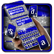 Cobalt Silver Glitter Keyboard Theme
