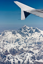 Photo: Here's a #TravelThursday photo (you could also imagine it's #MountainMonday) of none other than the very highest point on Planet Earth at 8,848m - Mount Everest.  I took this on a Druk Air flight from Kathmandu to Paro. I'd done a bit of research beforehand and as a result I booked a window seat on the port side of the plane away from the wing so I'd have a good view if the weather was OK. I'm very glad I did, the weather and scenery that day was fantastic!  Is that someone I can see waving from the top?