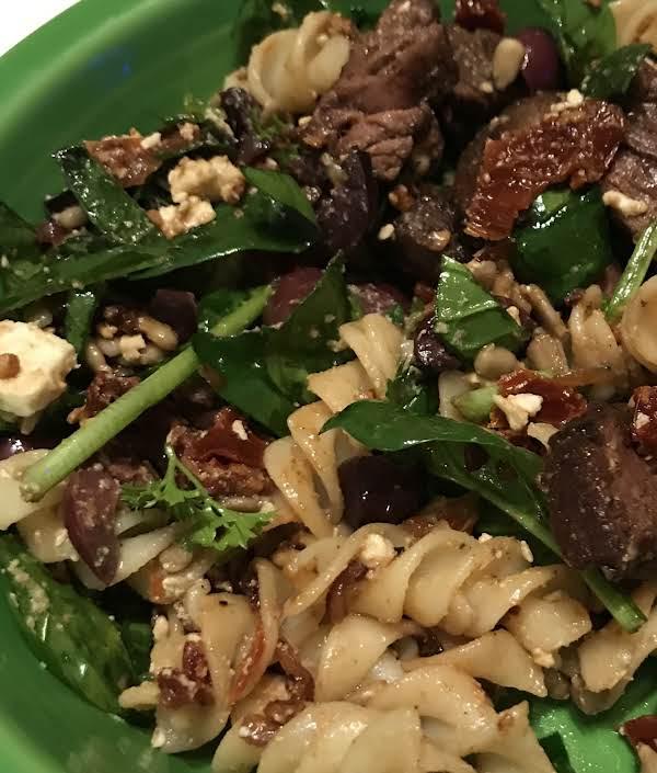 Greek Steak And Pasta Salad Recipe