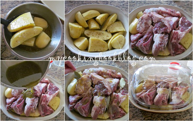 Лимоново агнешко с картофи в глинен съд