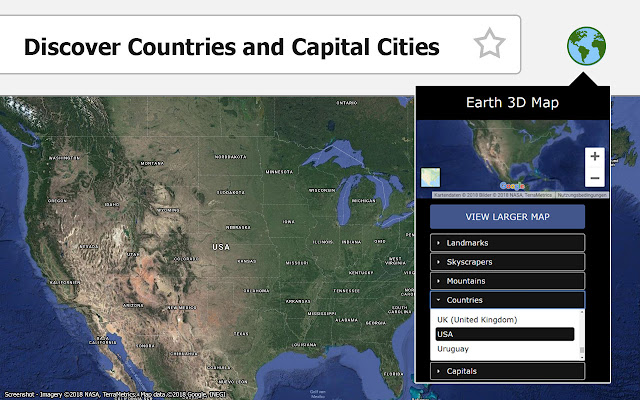 Earth 3D Map - Chrome Web Store