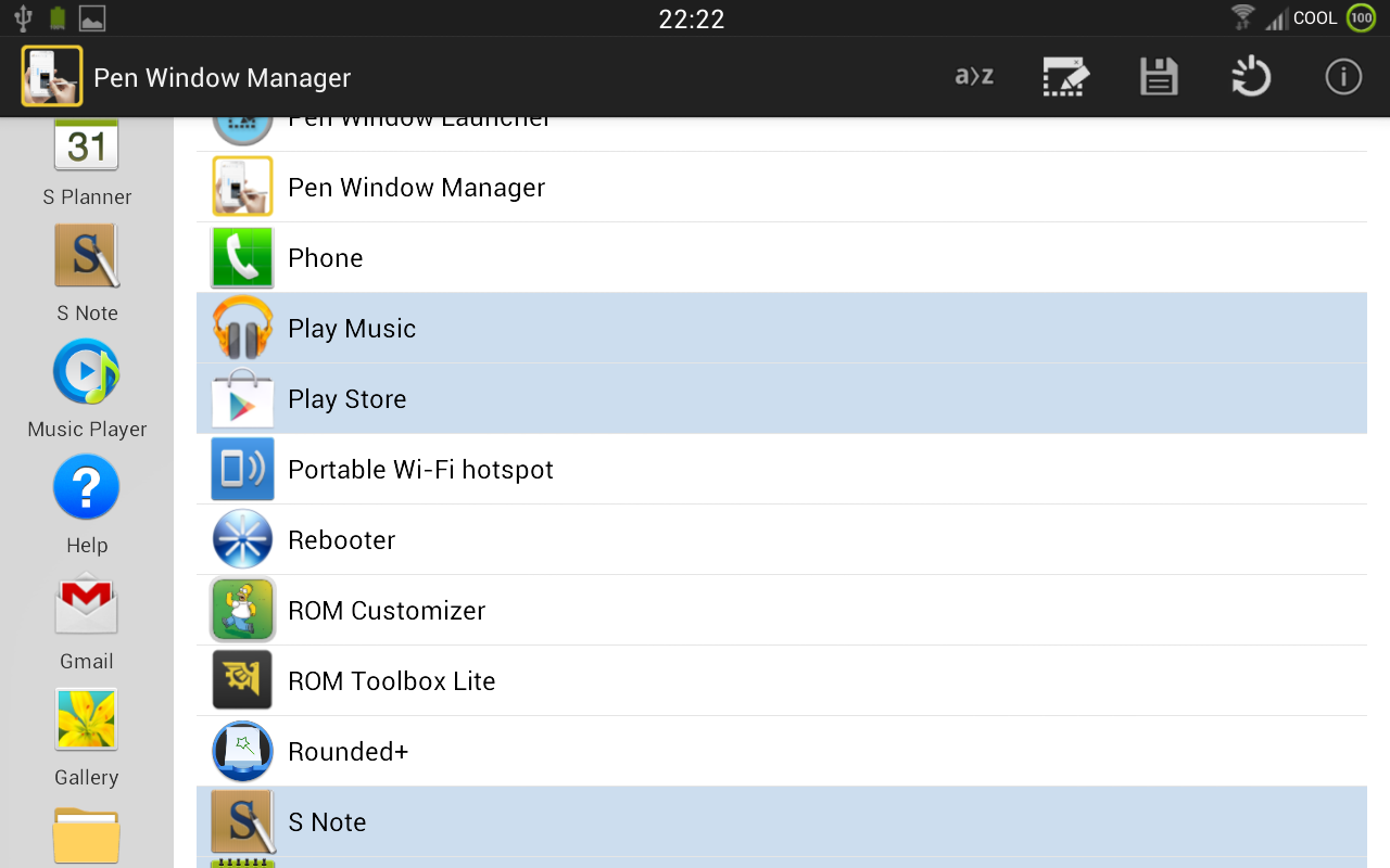 PEN Window Manager- screenshot