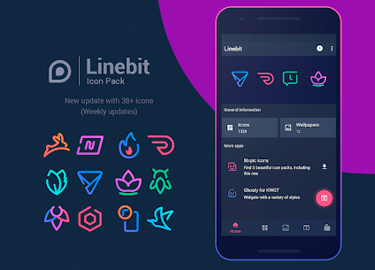Linebit – Icon Pack v1.2.3 [Patched] APK 1