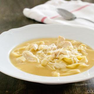 Fettuccine Alfredo Soup with Chicken