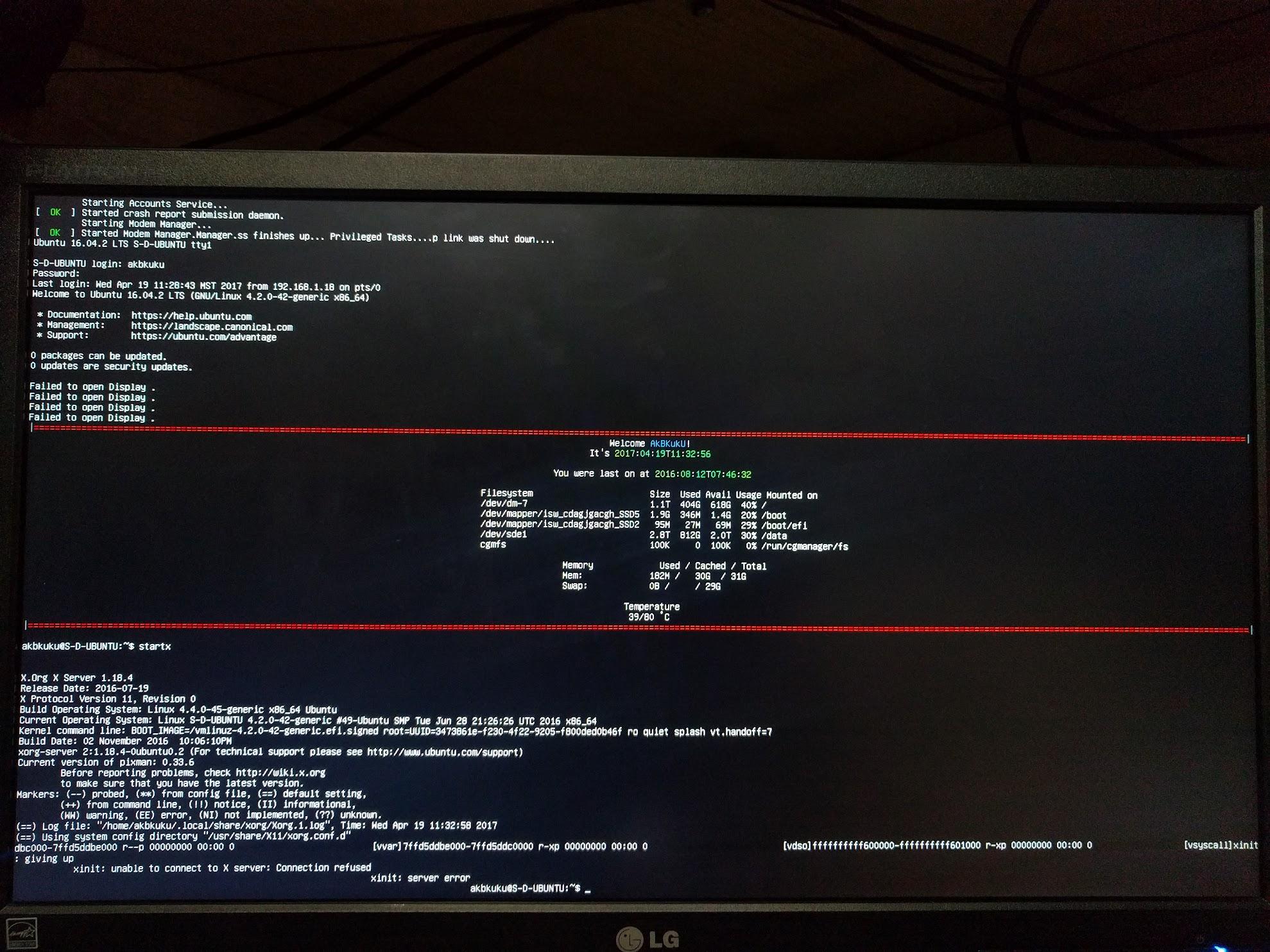 Ubuntu 15 10 GPU swap and 16 04 upgrade gone awry