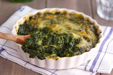 Baked Spinach With Baby Corn