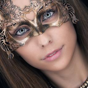 Masquerade by Ricardo Marques - People Portraits of Women ( mask, beauty, women, portrait, eyes,  )