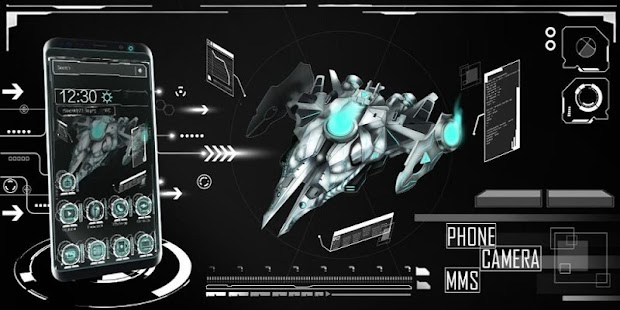 Spaceship Dark Theme - náhled