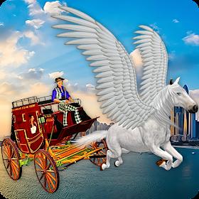 Летающий конь Такси Транспорт