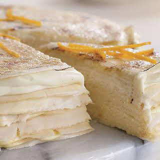 Twenty-Layer Vanilla Cream Crêpe Cake.
