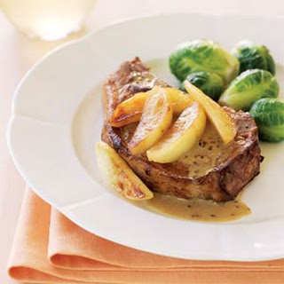Cider-Brined Pork Chops with Sautéed Apples