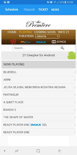 Bioskop 21 Mobile 1.0 screenshots 2