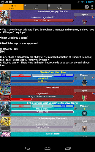 FC Buddyfight Database filehippodl screenshot 8
