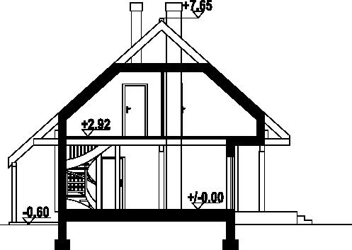 Świdnica mała dw3 - Przekrój