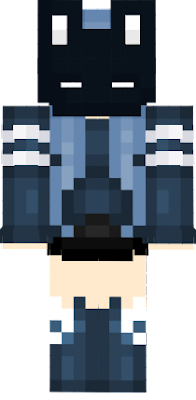 The clothes were heavily referenced. But I changed the color to blue L e l. Anyways. Have this skin. Ecks dee dee dee dee dee