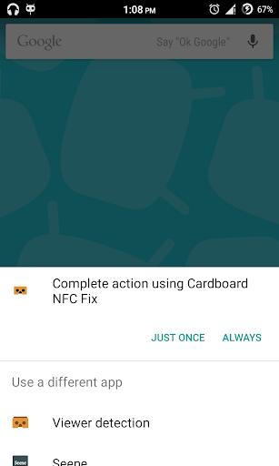 Cardboard NFC Fix