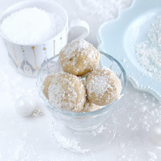 Coconut Snowflake Protein Balls.