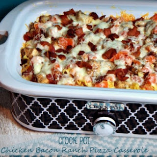 Crock Pot Chicken Bacon Ranch Pizza Casserole